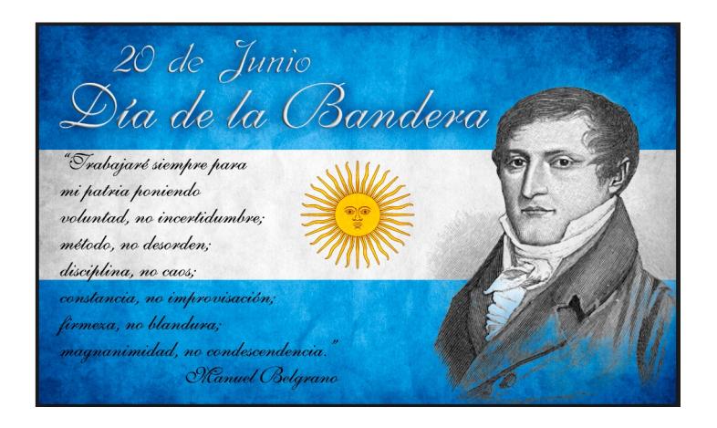 20 De Junio Día De La Bandera Argentina E P E T Nº 40